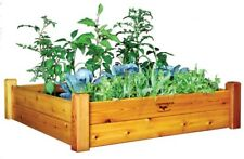 Raised Garden Bed 48 in. x 48 in. x 13 in. Wood Square Food Contact Safe Finish