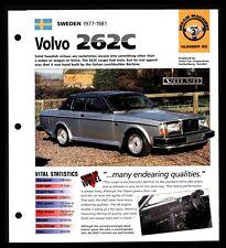 Volvo 262C (Sweden 1977-1981) Spec Sheet 1998 HOT CARS Dream Machines #2.60
