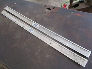 FORD MAVERICK MERCURY COMET DOOR SILL PLATES THRESHOLD TRIM LEFT RIGHT OEM PAIR