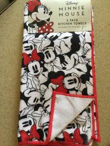 New Disney (3) Pack Disney Minnie Mouse Kitchen Towels