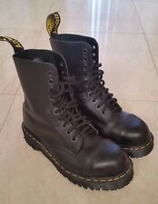 Doc Martens Classic 8761 BXB Black Leather Steel Toe Combat Boot - Womens Size 7