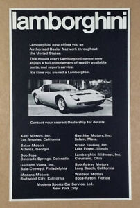 1972 Lamborghini Miura vintage print Ad