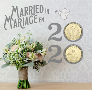 2020 Wedding Gift Card Set of 6 coins. SPECIAL $1 COIN ONLY COMES IN THIS SET