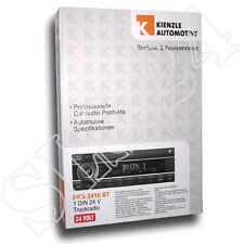 Kienzle MCR2416BT 24 Volt  LKW Truck BUS Radio Tuner mit BT Bluetooth USB AUX-IN