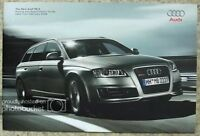 AUDI RS6 Car Pricing & Specification Guide Sales Brochure Feb 2008 Edition 1