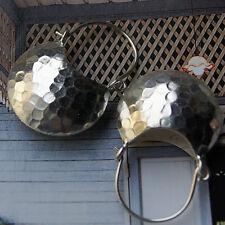 Karen hill tribe Hammered Earrings 98-99% silver