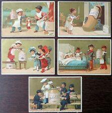 Chromo Liebig Sang. 84 FRA Cuochi Bambini (5 fig.) ANNO 1878/83