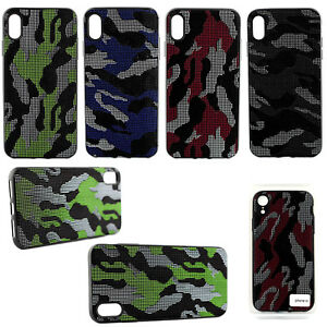 Premium Camoflage Handyhülle Schutz Hülle Case iPhone Xr XS MAX Galaxy Note9 TPU