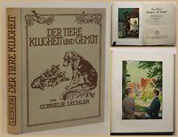 Lechler Der Tiere Klugheit und Gemüt 1928 Geschichten Erzählungen Kinder sf