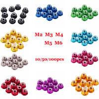 10~100pc M2/M3/M4/M5 Nylon Insert Self-Lock Aluminum Nuts Hex Lock Nut 10 Colors