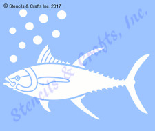 TUNA FISH STENCIL STENCILS OCEAN SEA NAUTICAL TEMPLATE MARINE TEMPLATE CRAFT NEW