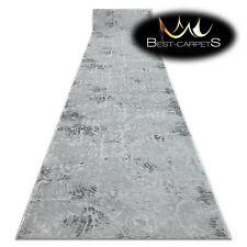 Modern Hall Runner structural MEFE fingerprint grey 70-80cm extra long RUGS