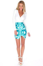 BNWT Tropical white and palm tree mini dress size 8. Party dress, dinner dress