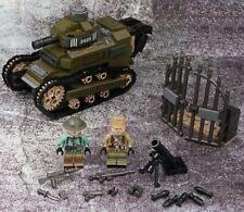 WWII Renault FT17 FT-17 tank 1 Mini figure World War 2 (II) WW2 France WWI MOC