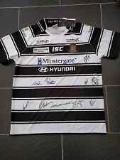 HULL FC BLACK & WHITE RUGBY 150 YEARS SIGNED SHIRT SIZE 2XL XXL NEW