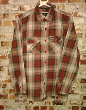 MENS/SUPERDRY/SIZE MEDIUM/LARGE RED CHECK SHIRT.