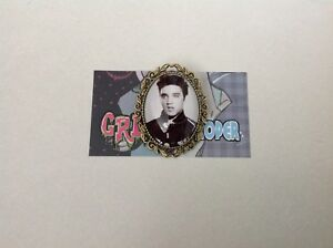Elvis Presley brooch pin clip rockabilly pin up girl retro vintage geek the king