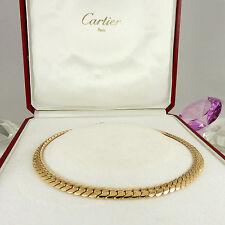 Cartier Echte Edelmetall-Halsketten & -Anhänger ohne Steine im Collier-Stil für Damen