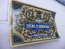 étiquette ancienne CREME D'ARMAGNAC