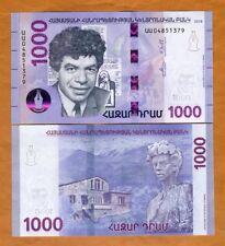 Armenia 1000 (1,000) Dram, 2018, P-NEW, UNC > Hybrid Polymer, New Design