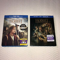 The Hobbit Lot of 2 Blu Ray DVD Movies An Unexpected Journey Desolation of Smaug