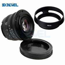 25mm F/1.8 HD MC Manual Focus Lens +Hood for Fuji Fujifilm X-E2 X-E1 X-Pro1 X-M1