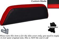 Negro Y Rojo Custom encaja Cagiva Mito 125. 90-94. respaldo cojín de cuero Funda De Asiento