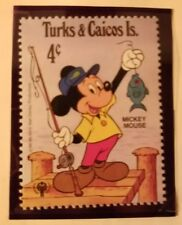 1979 Mint Turks & caicos, Disney Mickey mouse fishing stamp