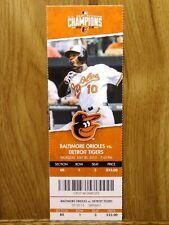 Baltimore Orioles vs Detroit Tigers 7-30-2015 Ticket Stub ~ Alex Wilson 1st Save