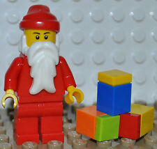 LEGO -  NEW MINIFIGURE SANTA CLAUSE / CHRISTMAS MINI FIGURE / WINTER / PRESENTS