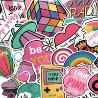 60Pcs Girls Hydro Flask Sticker Pack Cute Water Bottle Pink Laptop Stickers NEW