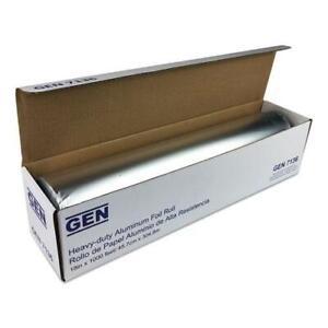 """GEN 81810 Heavy-Duty Aluminum Foil Roll, 18"""" X 1,000 Ft (1 Roll)"""