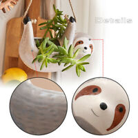 Hanging Sloth Shaped Ceramic Planter Pot Garden Flower/Succulent Pot Home Decor