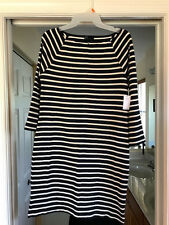 Gap Women's Navy & White Striped Sailor Shift Dress Size Small - NWT