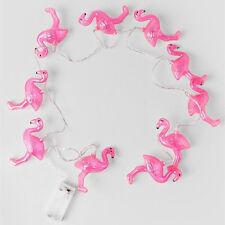 Romantic Flamingo 10 LED Bulb String Light Battery Opetated Party Decor 1.5m