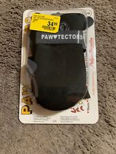 Paw-Tectors Winter Dog Boots Shoes Waterproof Non-Skid Fleece Lined Black NEW