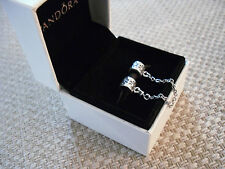 Pandora Silver Flower Safety Chain 790385   Comes in a Pandora Pouch