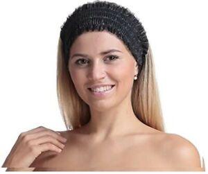Headband Non-Woven Disposable Spa  Elastic Makeup Hair Bands black- pack of 20