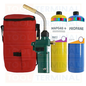 Plumbing Hot Bag Mapp Gas Blow Torch Map Propane Gas Solderding Brazing Plumbers
