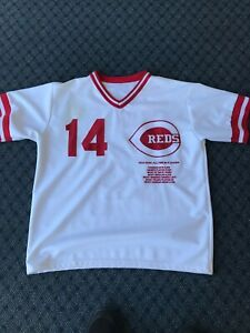PETE ROSE JERSEY HIT KING  ALL TIME STATS