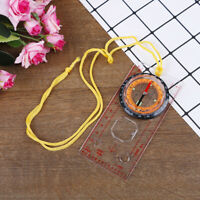 1PC Camping Compass Outdoor Portable Hiking Camping Ruler Map Magnifier CompasBB