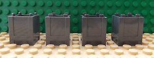 4 LEGO Container Box Bin Flower Pot Trash Can 2 x 2 x 2 Dark Bluish Grey 61780