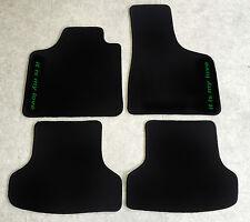 Autoteppiche Fußmatten für Mini Cooper Rover schwarz grün 1959'-2000' 4tlg Neu