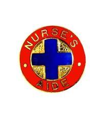 Nurses Aide Lapel Pin 811 Medical Emblem Blue Cross Retired Discontinued New
