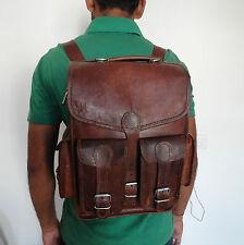 """Real Leather Backpack 13"""" Macbook Rucksack Shoulder Bag Briefcase Messenger Bag"""