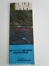 UNITED AIR LINES Destination HAWAII Island Guide KAUAI MAUI LANAI MOLOKAI 1973