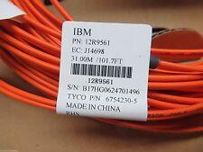 NEW IBM Tyco 30m (101ft) Duplex LC-LC Fiber Optic Cable 50/125 12R9561 6754230-5
