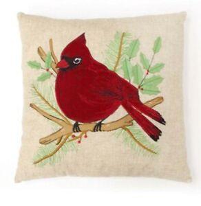 St Nicholas Square Cardinal Decorative Pillow 18x18 NIP MSRP $34.99