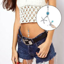 Surgical Steel Conch Starfish Dangle Navel Belly Barbell Body Piercing Jewelry