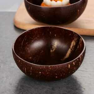 Natural coconut shell bowl  fruit salad noodle rice bowl  table ware